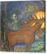 Midnight Mountain Majic 2 Canvas Print