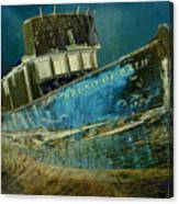 Midnight Shipwreck Canvas Print