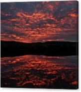 Midnight Sun In Norbotten Canvas Print