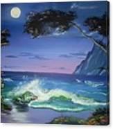 Midnight Tropicale Canvas Print