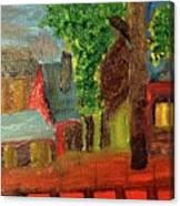 Midnight Village  Canvas Print