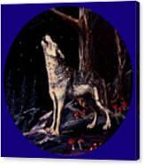 Midnight Wolf Canvas Print