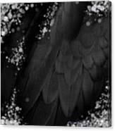 Midsummer Magik Quicksilver, Diamonds, Abstract Feathers, Silver Sparkles Canvas Print