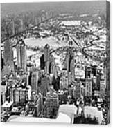 Midtown And Central Park View Canvas Print