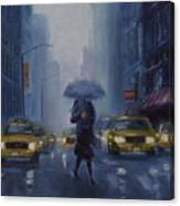 Midtown Blue Canvas Print