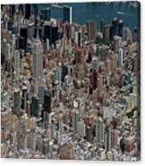 Midtown East Manhattan Skyline Aerial   Canvas Print