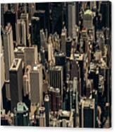 Midtown Manhattan Skyline Aerial Canvas Print