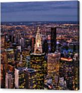 Midtown Skyline At Dusk Canvas Print