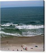 Mighty Ocean Aerial View Canvas Print