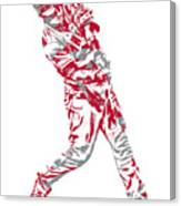 Mike Trout Los Angeles Angels Pixel Art 20 Canvas Print