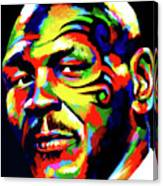 Mike Tyson Abstract Canvas Print