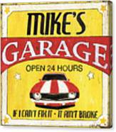 Mike's Garage Canvas Print