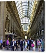Milan Shopping Mall Canvas Print