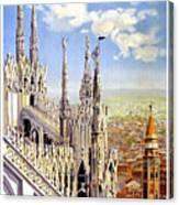 Milan Travel Print Canvas Print