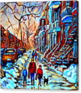 Mile End Montreal Neighborhoods Canvas Print