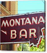 Miles City, Montana - Bar Neon Canvas Print