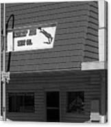 Miles City, Montana - Downtown Bw Canvas Print