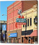 Miles City, Montana - Downtown Casino 2 Canvas Print