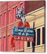 Miles City, Montana - Downtown Casino Canvas Print