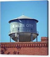 Miles City, Montana - Water Tower Canvas Print