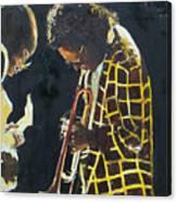 Miles Davis And A Guitar Player  Canvas Print