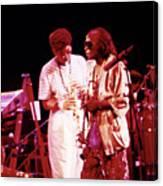 Miles Davis Image 10 And Bob Berg 1985 Your Under Arrest Tour Canvas Print
