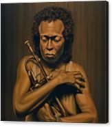 Miles Davis Painting Canvas Print