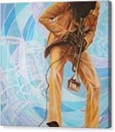 Miles Davis  In A Yellow Suit Canvas Print