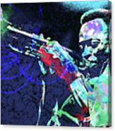 Miles Jazz Canvas Print