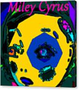 Miley Cyrus At Five With An Attitude Print Canvas Print