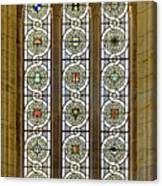 Military Insignia On Stained Glass - Meuse Argonne - East Canvas Print