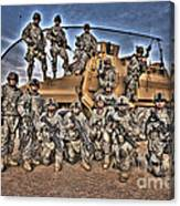 Military Police Pose For This Hdr Image Canvas Print