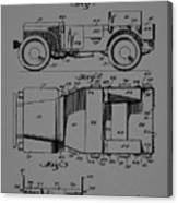 Military Vehicle Body Patent Drawing 1d Canvas Print