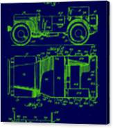 Military Vehicle Body Patent Drawing 1e Canvas Print