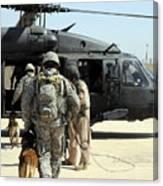 Military Working Dog Handlers Board Canvas Print