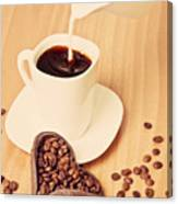 Milk In The Coffee Canvas Print