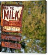Milk Sign Canvas Print