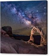 Milky Way And Delicate Arch Canvas Print