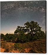 Milky Way Arch Over Enchanted Rock State Natural Area - Fredericksburg Texas Hill Country Canvas Print