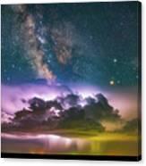 Milky Way Monsoon Canvas Print