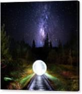 Milky Way Orb Canvas Print