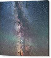 Milky Way Over An Old Ranch Corral Canvas Print
