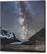 Milky Way Over Athabasca Glacier Canvas Print