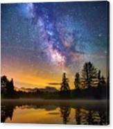 Milky Way Over Coffin Pond  Canvas Print
