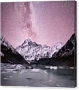 Milky Way Over Mt Cook Canvas Print