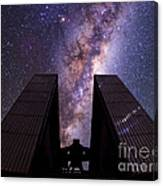 Milky Way Over New Technology Telescope Canvas Print