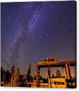 Milky Way Over Old Corral Canvas Print