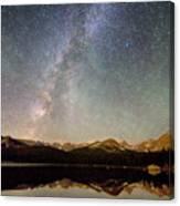 Milky Way Over The Colorado Indian Peaks Canvas Print