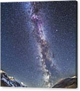 Milky Way Over The Columbia Icefields Canvas Print