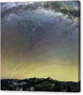 Milky Way Over Yosemite Valley Canvas Print